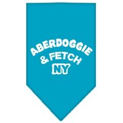 Mirage Pet Products Aberdoggie NY Screen Print Bandana Turquoise Large