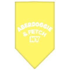 Mirage Pet Products Aberdoggie NY Screen Print Bandana Yellow Small