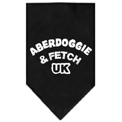 Mirage Pet Products Aberdoggie UK Screen Print Bandana Black Large