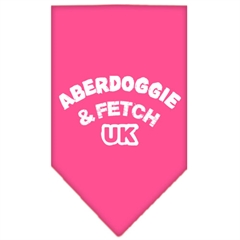 Mirage Pet Products Aberdoggie UK Screen Print Bandana Bright Pink Large