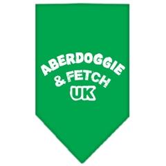 Mirage Pet Products Aberdoggie UK Screen Print Bandana Emerald Green Small