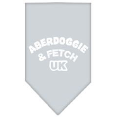 Mirage Pet Products Aberdoggie UK Screen Print Bandana Grey Small