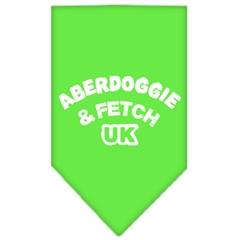 Mirage Pet Products Aberdoggie UK Screen Print Bandana Lime Green Large