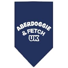 Mirage Pet Products Aberdoggie UK Screen Print Bandana Navy Blue large
