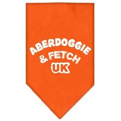 Mirage Pet Products Aberdoggie UK Screen Print Bandana Orange Small