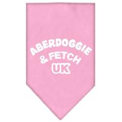 Mirage Pet Products Aberdoggie UK Screen Print Bandana Light Pink Large