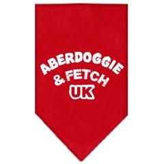 Mirage Pet Products Aberdoggie UK Screen Print Bandana Red Large