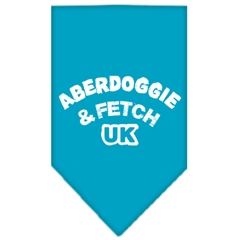 Mirage Pet Products Aberdoggie UK Screen Print Bandana Turquoise Small