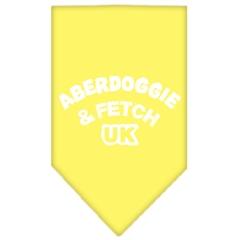 Mirage Pet Products Aberdoggie UK Screen Print Bandana Yellow Small