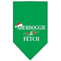 Mirage Pet Products Aberdoggie Christmas Screen Print Bandana Emerald Green Small