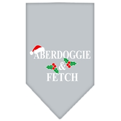 Mirage Pet Products Aberdoggie Christmas Screen Print Bandana Grey Small