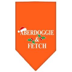 Mirage Pet Products Aberdoggie Christmas Screen Print Bandana Orange Small