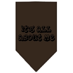 Mirage Pet Products It's All About Me Screen Print Bandana Cocoa Small