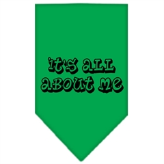Mirage Pet Products It's All About Me Screen Print Bandana Emerald Green Small