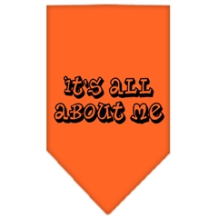 Mirage Pet Products It's All About Me Screen Print Bandana Orange Small