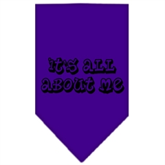 Mirage Pet Products It's All About Me Screen Print Bandana Purple Large