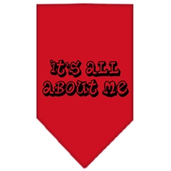 Mirage Pet Products It's All About Me Screen Print Bandana Red Large