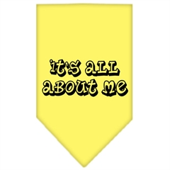 Mirage Pet Products It's All About Me Screen Print Bandana Yellow Small