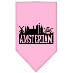 Mirage Pet Products Amsterdam Skyline Screen Print Bandana Light Pink Small