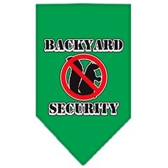 Mirage Pet Products Backyard Security Screen Print Bandana Emerald Green Large