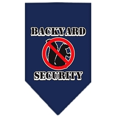 Mirage Pet Products Backyard Security Screen Print Bandana Navy Blue Small