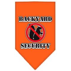 Mirage Pet Products Backyard Security Screen Print Bandana Orange Large