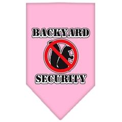 Mirage Pet Products Backyard Security Screen Print Bandana Light Pink Large