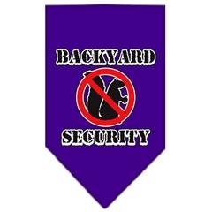 Mirage Pet Products Backyard Security Screen Print Bandana Purple Small