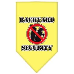 Mirage Pet Products Backyard Security Screen Print Bandana Yellow Large