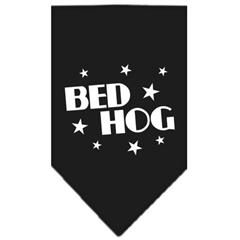 Mirage Pet Products Bed Hog Screen Print Bandana Black Large