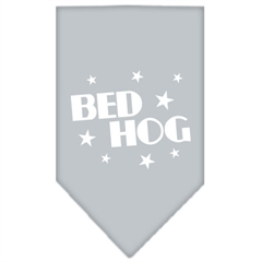 Mirage Pet Products Bed Hog Screen Print Bandana Grey Small