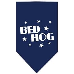 Mirage Pet Products Bed Hog Screen Print Bandana Navy Blue Small