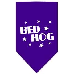 Mirage Pet Products Bed Hog Screen Print Bandana Purple Large