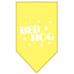 Mirage Pet Products Bed Hog Screen Print Bandana Yellow Large