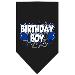 Mirage Pet Products Birthday Boy Screen Print Bandana Black Large
