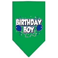 Mirage Pet Products Birthday Boy Screen Print Bandana Emerald Green Small