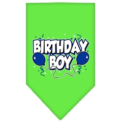 Mirage Pet Products Birthday Boy Screen Print Bandana Lime Green Large