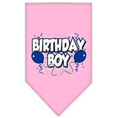 Mirage Pet Products Birthday Boy Screen Print Bandana Light Pink Small