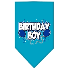 Mirage Pet Products Birthday Boy Screen Print Bandana Turquoise Small