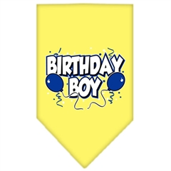 Mirage Pet Products Birthday Boy Screen Print Bandana Yellow Large