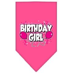 Mirage Pet Products Birthday girl Screen Print Bandana Bright Pink Large