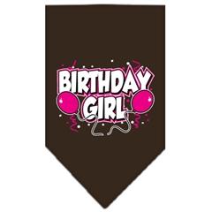 Mirage Pet Products Birthday Girl Screen Print Bandana Cocoa Large