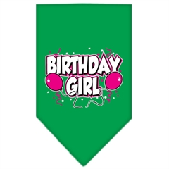 Mirage Pet Products Birthday girl Screen Print Bandana Emerald Green Large