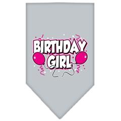 Mirage Pet Products Birthday girl Screen Print Bandana Grey Large