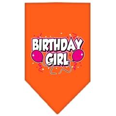 Mirage Pet Products Birthday girl Screen Print Bandana Orange Large
