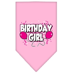 Mirage Pet Products Birthday girl Screen Print Bandana Light Pink Small