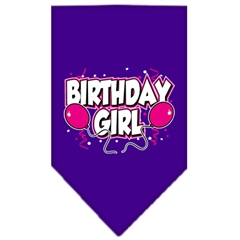 Mirage Pet Products Birthday Girl Screen Print Bandana Purple Small