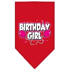 Mirage Pet Products Birthday girl Screen Print Bandana Red Small