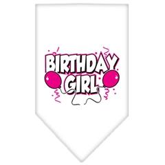 Mirage Pet Products Birthday Girl Screen Print Bandana White Small