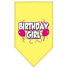 Mirage Pet Products Birthday girl Screen Print Bandana Yellow Large